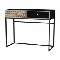 Console 90x35x75 cm en bois et métal - OLIVIA