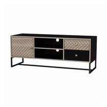 Meuble TV 120x39x47 cm en bois et métal - OLIVIA