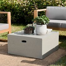 Table basse carrée 68 cm en béton - BETTY