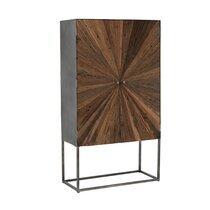Buffet haut 2 portes 90x40x160 cm en bois et métal - SHANIL