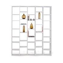 Etagère 182x34x224 cm décor blanc mat - NOEMIE