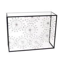 Console design 100 cm en métal décor fleur - BREL