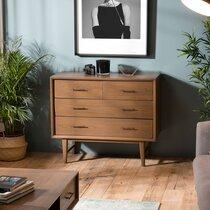 Commode 4 tiroirs en bois de Mindi - CASSY