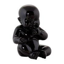 Accessoire déco forme bébé 11x11x17 cm noir