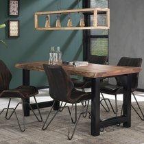 Table à manger 165 cm en acacia et métal noir - STACY