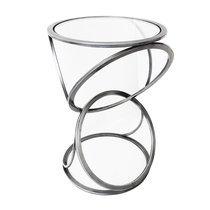 Sellette ronde 40 cm avec piètement anneaux en métal gris
