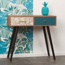 Console 2 tiroirs 80x40x80 cm en bois multicolore