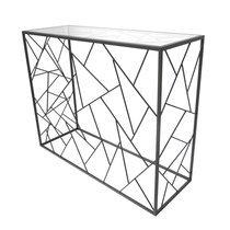Console 80x35x100 cm en métal avec piètement triangles - GEOMY