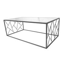 Table basse 110x40x60 cm en métal avec piètement triangles - GEOMY