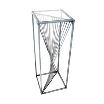 Sellette design carrée 30 cm en métal gris