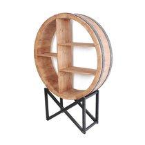 Etagère ronde 115x30x163 cm en bois et métal