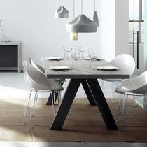 Table à manger 200x100x76 cm décor béton