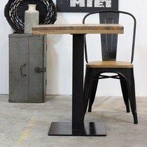 Table carrée 60x75 cm en bois et acier noir