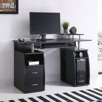 Bureau avec rangements 120x55x84 cm noir