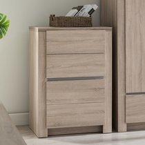 Commode 4 tiroirs 79 cm décor chêne - ARNOLD