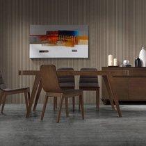Table à manger 180x90x75 cm en bois noyer foncé