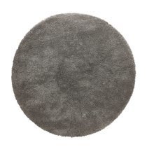 Tapis rond 160 cm en tissu gris - STEEN