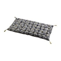 Coussin 120x60 cm en coton gris et doré - GREYSI
