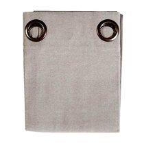Rideau à œillets 135x250 cm en coton gris clair - YUNI