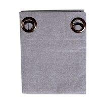 Rideau à œillets 135x250 cm en coton gris - YUNI