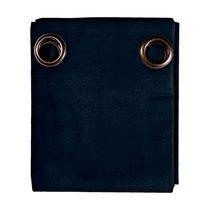 Rideau à œillets 135x250 cm en coton bleu foncé - YUNI