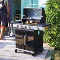 Barbecue au gaz 4 brûleurs et plancha - FIDGI