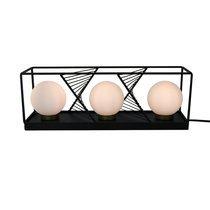 Lampe 45x12x15,5 cm avec 3 sphères en verre et métal