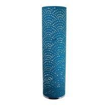Lampe led 30x115 cm en métal à motifs bleus