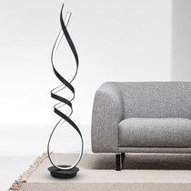 Lampadaire design 160 cm en métal noir