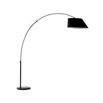Lampadaire forme arc hauteur 222,5 cm noir