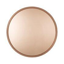 Miroir rond 60 cm en métal cuivré - BANDIT