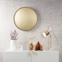 Miroir rond 60 cm en métal doré - BANDIT