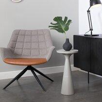 Table d'appoint ronde 28 cm en aluminium gris - FLOSS