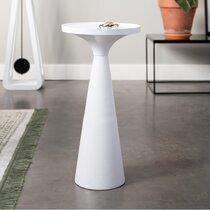 Table d'appoint ronde 28 cm en aluminium blanc - FLOSS