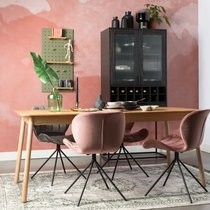 Table à manger 180/240x80x76 cm décor frêne naturel - GLIMPS