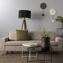 Canapé 2,5 place 204x90x80 cm en tissu gris - JEAN