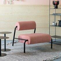 Fauteuil lounge 87x93x70 cm en tissu rose