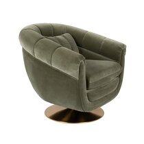 Fauteuil 82x88x79 cm en tissu vert - MEMBER