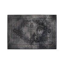 Tapis 170x240 cm en tissu noir - RUGGED