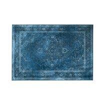 Tapis 200x300 cm en tissu bleu - RUGGED