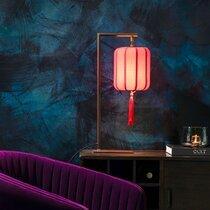 Lampe de table 20x60 cm en tissu rouge - SUONI