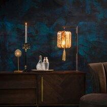 Lampe de table 20x60 cm en tissu doré - SUONI