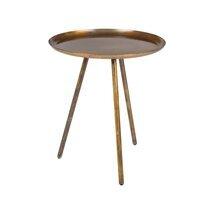 Table d'appoint ronde 39x45 cm en métal cuivré - TELMA