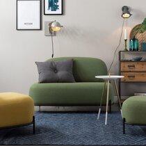 Canapé 125x71,5x77 cm en tissu vert - CELLO