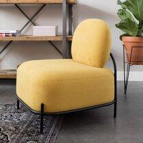 Fauteuil 66x71,5x77 cm en tissu jaune - CELLO
