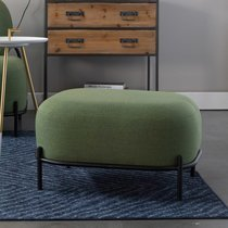 Repose-pieds 60x50,5x36 cm en tissu vert - CELLO