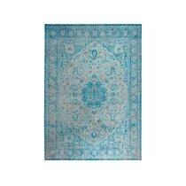 Tapis oriental 160x230 cm en tissu turquoise