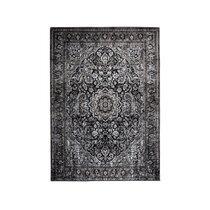 Tapis oriental 160x230 cm en tissu noir