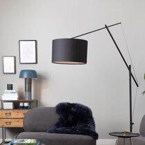 Lampadaire 50x168x210 cm en tissu et métal noir