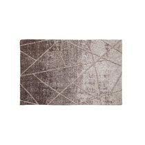 Tapis 200x290 cm motif géométrique gris et argent